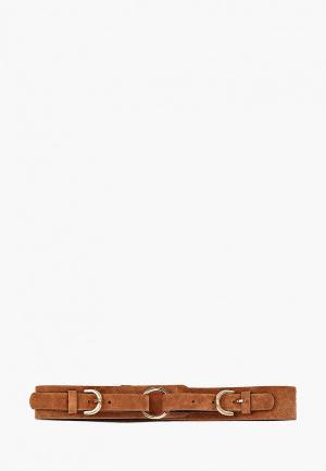 Пояс Pieces. Цвет: коричневый