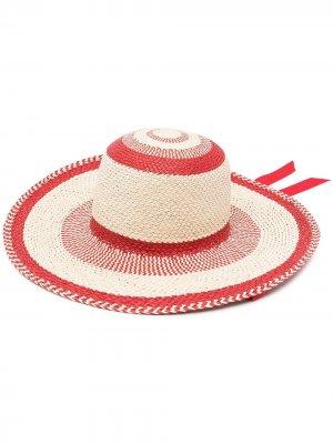 Плетеная шляпа в полоску Gladys Tamez. Цвет: нейтральные цвета