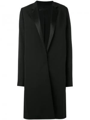 Однобортное пальто Haider Ackermann. Цвет: черный