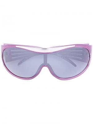 Солнцезащитные очки с логотипом Gianfranco Ferré Pre-Owned. Цвет: фиолетовый