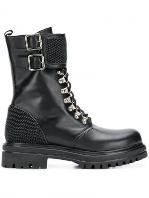 Lace-up boots Albano. Цвет: черный