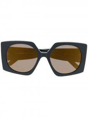 Солнцезащитные очки в квадратной оправе Courrèges Eyewear. Цвет: черный