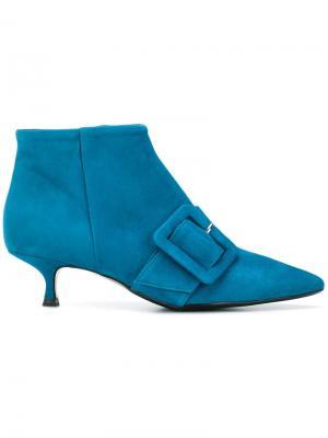 Ботильоны с заостренным носком Anna F.. Цвет: синий
