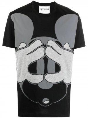 Футболка с принтом Mickey Mouse Iceberg. Цвет: черный