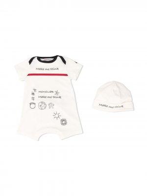 Комплект для новорожденного Make Me Think Moncler Kids. Цвет: белый