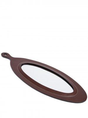 Овальное зеркало Perfect Day Oscar Maschera. Цвет: коричневый