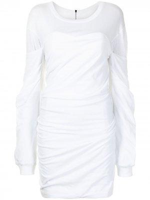 Платье Indya со сборками RtA. Цвет: белый