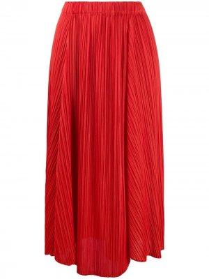 Плиссированная юбка асимметричного кроя Pleats Please Issey Miyake. Цвет: красный