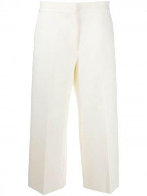 Укороченные брюки широкого кроя MSGM. Цвет: желтый