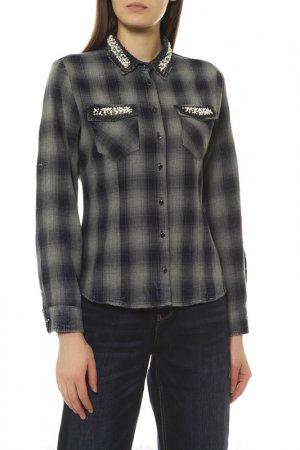 Рубашка EMANSIPE. Цвет: серый