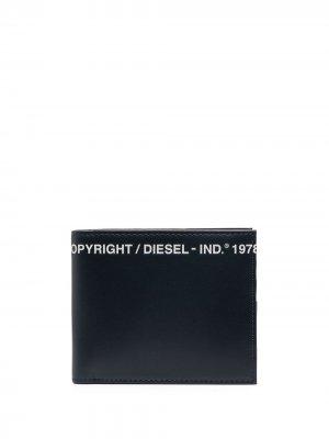 Бумажник с логотипом Diesel. Цвет: синий