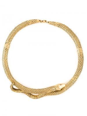 Ожерелье в форме змеи Tao Aurelie Bidermann. Цвет: золотистый
