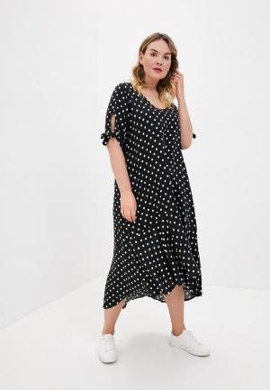 Платье пляжное Ulla Popken. Цвет: черный