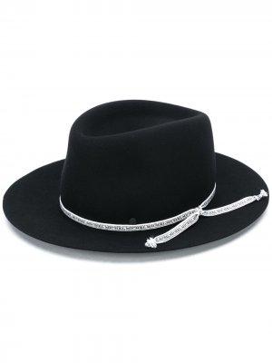 Фетровая шляпа-федора Maison Michel. Цвет: черный