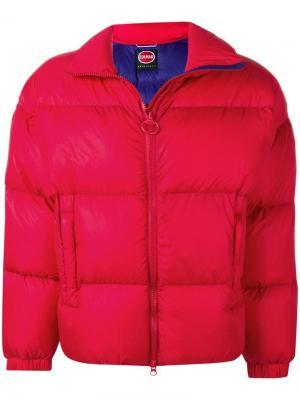 Дутая куртка оверсайз Colmar. Цвет: красный