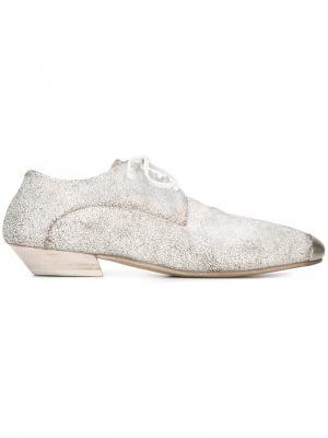 Туфли Bianco с эффектом потертости Marsèll. Цвет: белый
