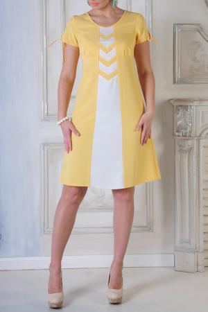 Платье MONO collection. Цвет: желтый