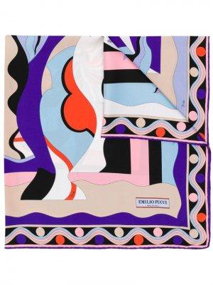 Платок с принтом Emilio Pucci. Цвет: фиолетовый