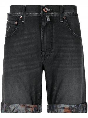 Джинсовые шорты с подворотами Jacob Cohen. Цвет: серый