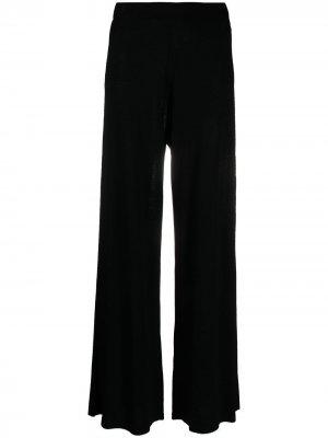 Расклешенные брюки с эластичным поясом P.A.R.O.S.H.. Цвет: черный