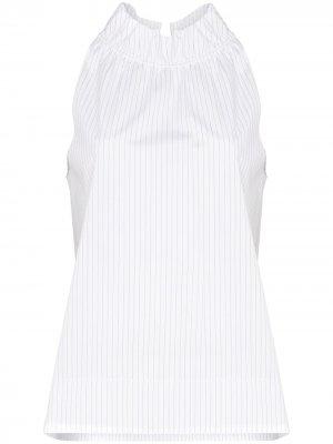 Поплиновая блузка без рукавов Rosetta Getty. Цвет: белый