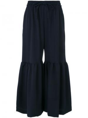 Расклешенные укороченные брюки See By Chloé. Цвет: синий