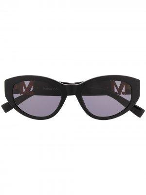 Солнцезащитные очки Berlin II/G в оправе кошачий глаз Max Mara. Цвет: черный