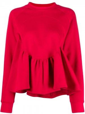 Расклешенная блузка с длинными рукавами Atu Body Couture. Цвет: красный