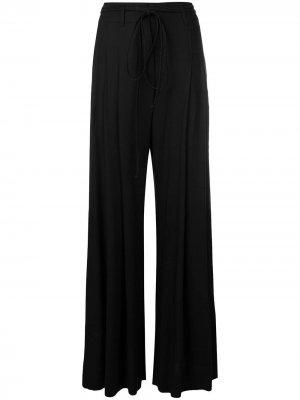 Струящиеся брюки палаццо Ann Demeulemeester. Цвет: черный