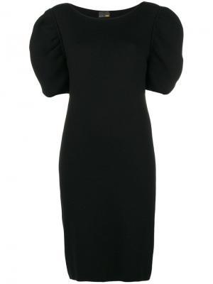 Вязаное платье с короткими рукавами Fendi Pre-Owned. Цвет: черный