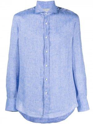 Рубашка на пуговицах Brunello Cucinelli. Цвет: синий