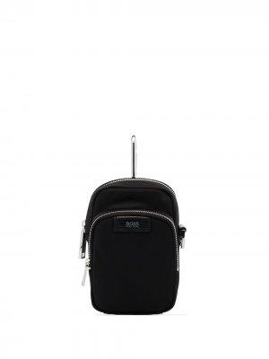 Поясная сумка Meridian BOSS. Цвет: черный