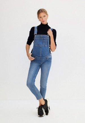 Комбинезон джинсовый Mango. Цвет: синий