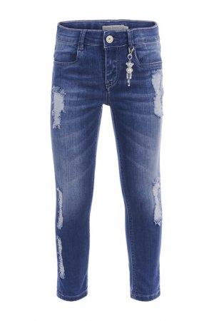 Брюки джинсовые Silver Spoon Casual. Цвет: мультицвет