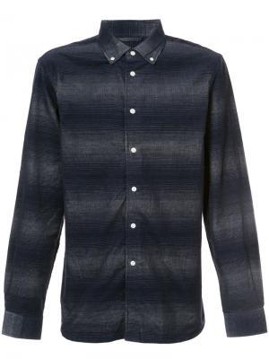 Полосатая рубашка Saturdays Nyc. Цвет: синий