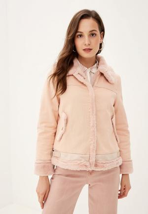 Куртка джинсовая Grand Style. Цвет: розовый