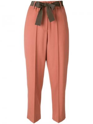 Cropped trousers Alysi. Цвет: желтый