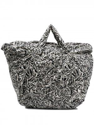 Большая сумка-тоут с принтом 10 CORSO COMO. Цвет: черный
