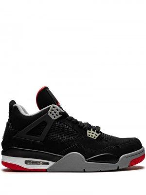 Кроссовки Air  4 Retro Jordan. Цвет: черный