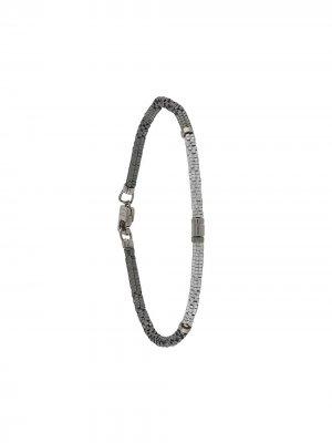 Браслет из серебряных бусин Tateossian. Цвет: серебристый