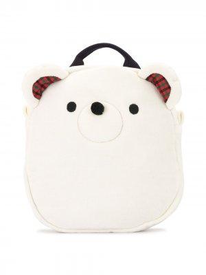Рюкзак в форме медведя Familiar. Цвет: белый