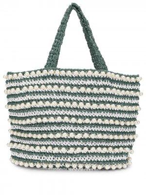 Пляжная сумка-тоут Malibu 0711. Цвет: зеленый