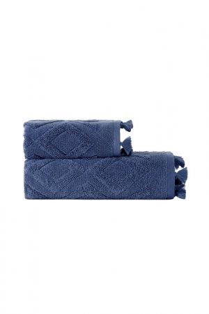 Полотенце Жаккард 70X140 Arya home collection. Цвет: голубой