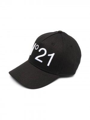Бейсболка с вышитым логотипом Nº21 Kids. Цвет: черный