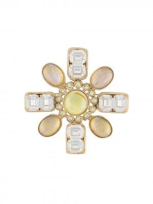 Декорированная брошь Chanel Pre-Owned. Цвет: золотистый