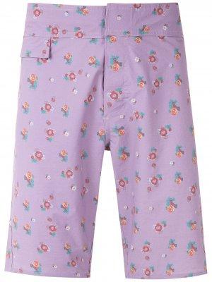Плавки-шорты с цветочным принтом Amir Slama. Цвет: фиолетовый