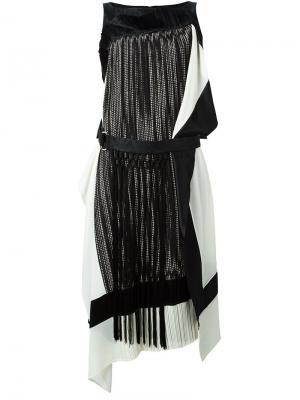 Платье с бахромой и поясом Antonio Marras. Цвет: чёрный