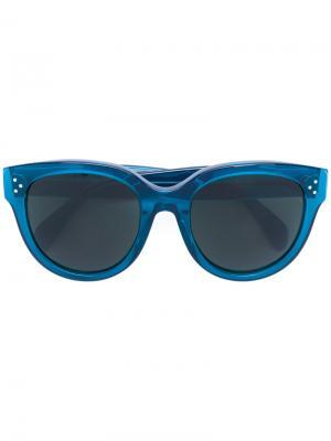 Солнцезащитные очки Audrey Celine Eyewear. Цвет: синий