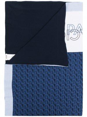 Одеяло с монограммой Cesare Paciotti 4Us Kids. Цвет: синий