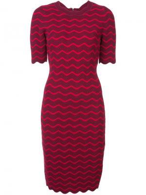 Приталенное платье миди Milly. Цвет: красный